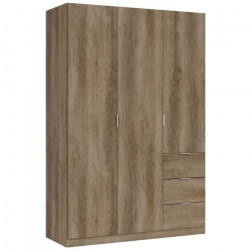GLORIA Armoire de chambre style contemporain mélaminée nordik - L 135 cm