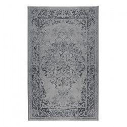 LUXUS Tapis de salon vintage gris 200x290 cm
