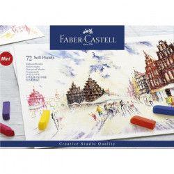 FABER-CASTELL Boîte 72 Demi Pastels Carrés Tendres