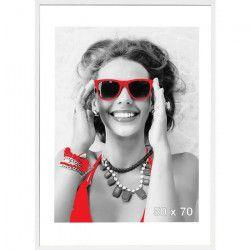 Cadre photo Sevilla - 50x70 - Blanc - Moulure15x15mm