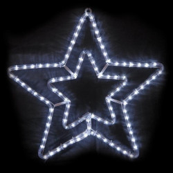 CODICO Étoile double niveau lumineuse - 56 cm