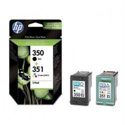 HP 350/351 Pack de 2 cartouches d`encre Noir et Trois couleurs authentiques (SD412EE)