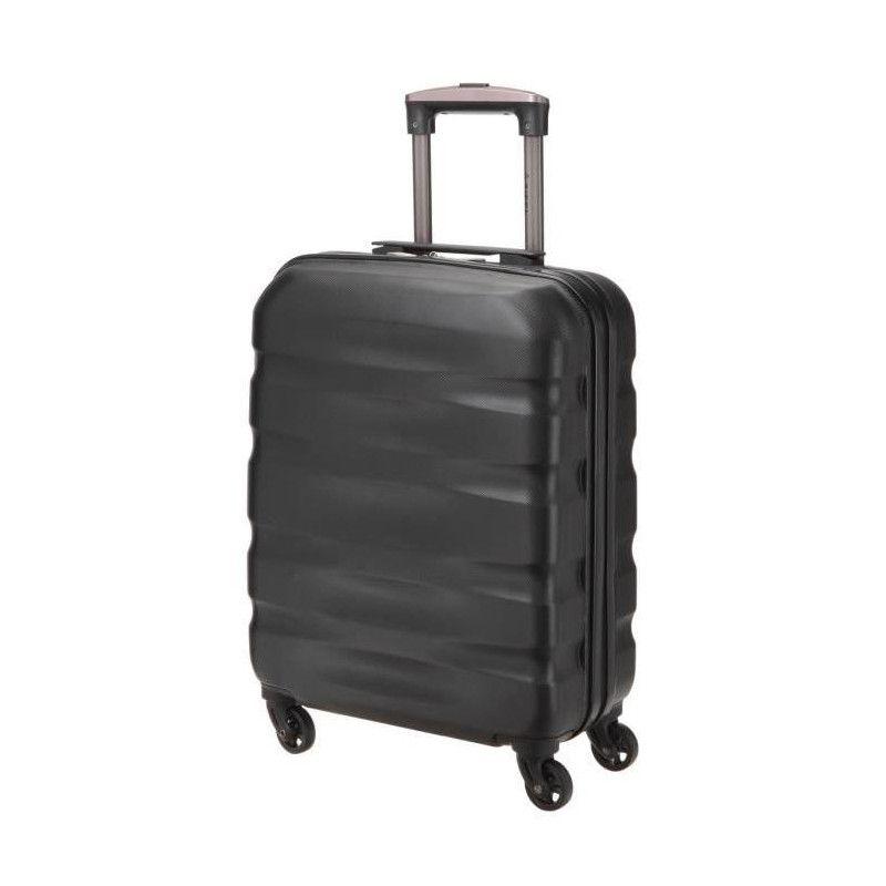 valise cabine rigide abs 4 roues 50 cm noir. Black Bedroom Furniture Sets. Home Design Ideas