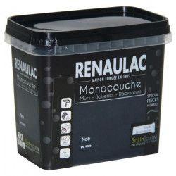 Peinture murale monocouche spéciale pieces humides 0,75 L noir satin Murs / Boiseries / Radiateurs - RENAULAC