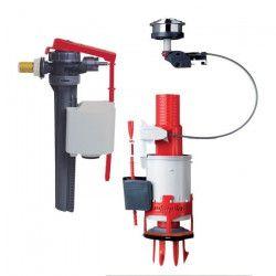 WIRQUIN Mécanisme double chasse a câble Easy Clic avec robinet flotteur Jollyfill