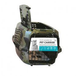 MPETS Cage de transport Warrior - Pour chien - 46x31x23cm - Vert kaki