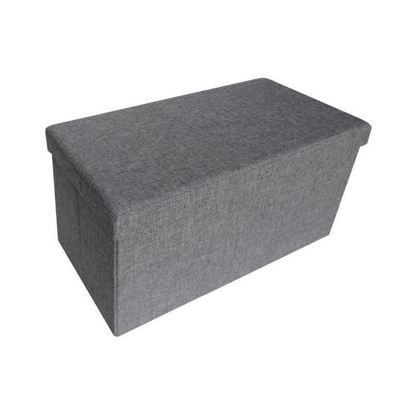 Cotton Wood Banc Coffre Pliable Effet Lin 76 X 38 X