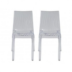 UP ON lot de 2 chaises de jardin Dune - En polycarbonate - Transparent