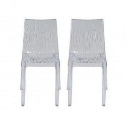 UP ON lot de 2 chaises de jardin Dune - En polycarbonate - Transparent