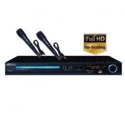 TAKARA KDV114BV2 Lecteur DVD Fonction Karaoké 2 micros - 1 x HDMI - 1 x USB - Noir