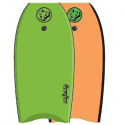 SURF & SUN Bodyboard Similar EPS 41` - Vert et orange fluo