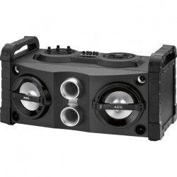 AEG EC 4835 Enceinte Karaoke Bluetooth / MP3 / USB - 50 W x 2 - Lumiere disco a 7 Couleurs
