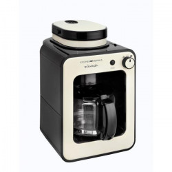 TEAM KALORIK TKG CCG 1001KTO Cafetiere programmable avec broyeur - Creme