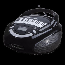 METRONIC 477141 Radio CD-MP3 Edition Piano - 3 W - Noir et blanc
