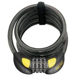 ONGUARD Antivol de vélo cable Doberman Combo - 185 cm X 12 mm