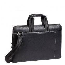 RIVACASE Sacoche série Orly pour notebook 15,6`` - Cuir - Noir