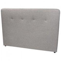 ADAGIO Tete de lit capitonnée style contemporain - Tissu gris clair - L 170 cm