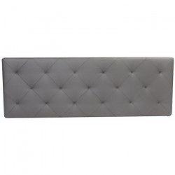 MARCELO Tete de lit capitonnée style contemporain - Simili gris - L 170 cm