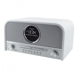 SOUNDMASTER NR850WE Ensemble Radio vintage stéréo DAB + CD et Bluetooth - Blanc