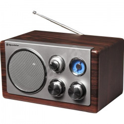 ROADSTAR HRA 1245WD Radio Mono Design Retro Vintage - Analogique Fm/Mw - 28 Watt