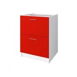 OBI Meuble casserolier L 60 cm - Rouge mat