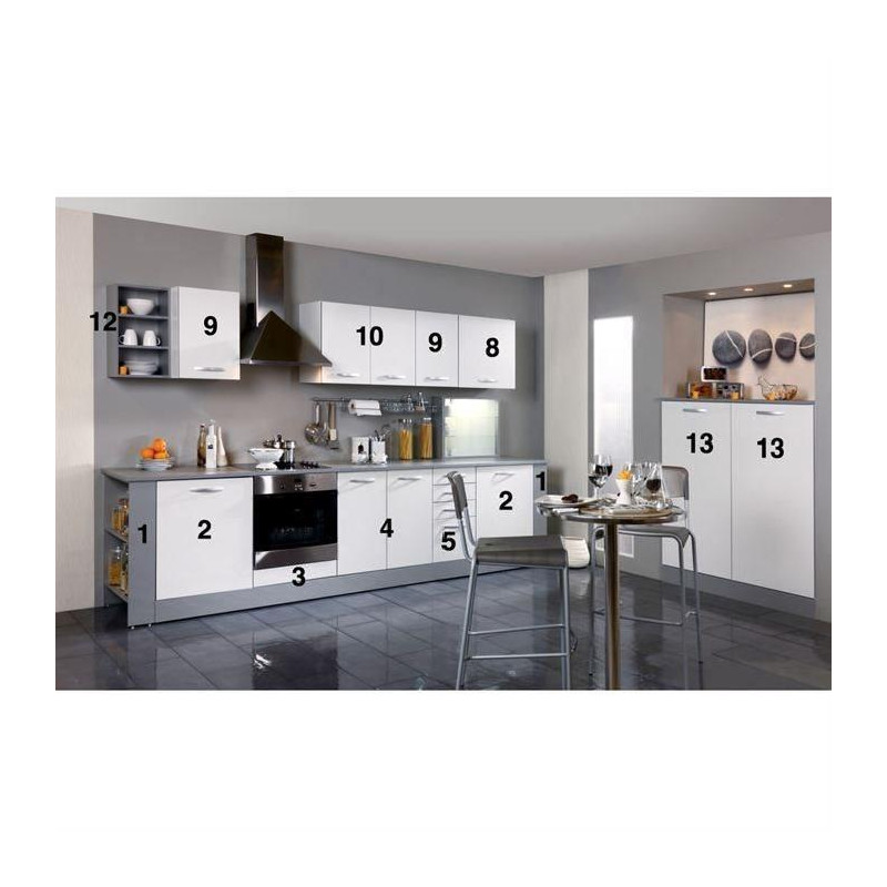 harmony meuble haut de cuisine l 80 cm blanc mat. Black Bedroom Furniture Sets. Home Design Ideas