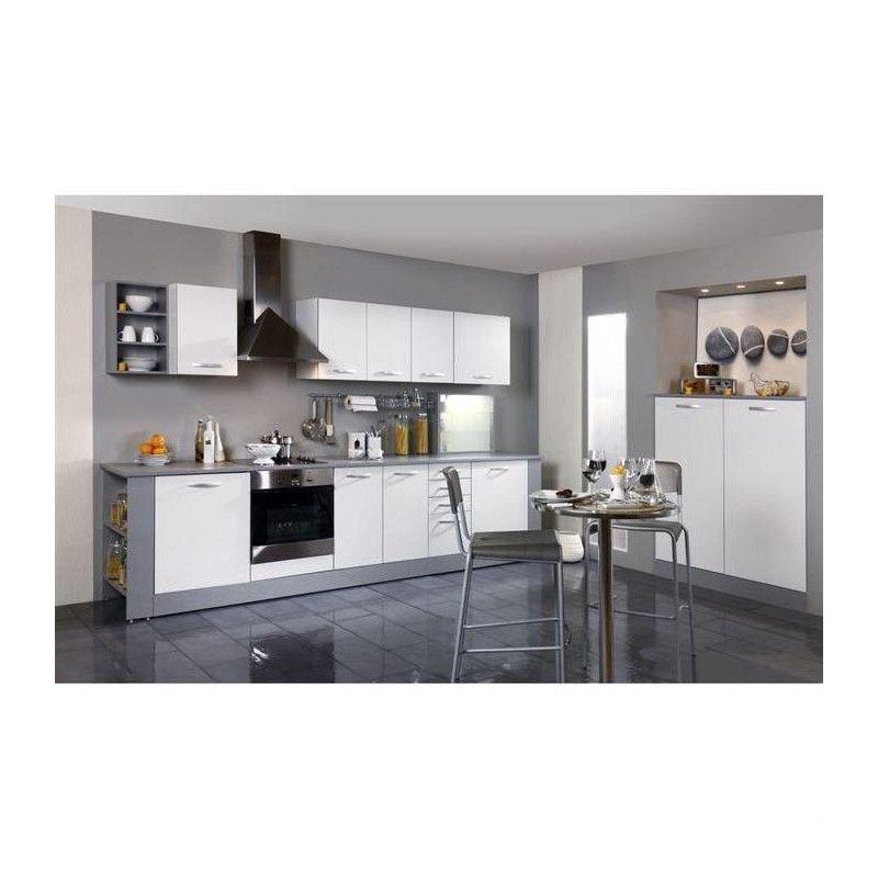 harmony meuble haut de cuisine l 80 cm blanc mat. Black Bedroom Furniture Sets. Home Design Ideas