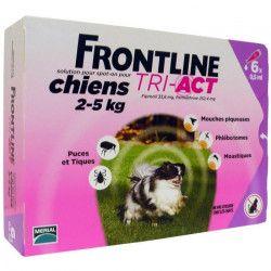FRONTLINE 6 pipettes Tri-Act - Pour chien de 2 a 5 kg
