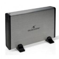 BLUESTORK Boitier externe disque dur SATA 3,5` Drive Box - USB 2.0 - Argent