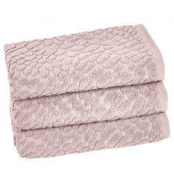 VENT DU SUD Lot de 3 serviettes THALIA - 50x90 cm - Rose