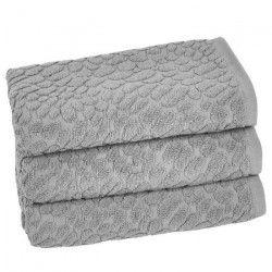 VENT DU SUD Lot de 3 serviettes THALIA - 50x90 cm - Gris cendre