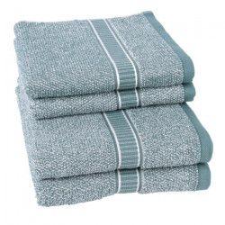 JULES CLARYSSE Lot de 2 serviettes + 2 draps de bain Jasper - Bleu