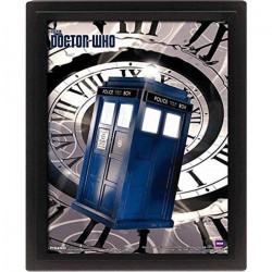 Cadre 3D Lenticulaire Doctor Who : Tardi Time Spiral