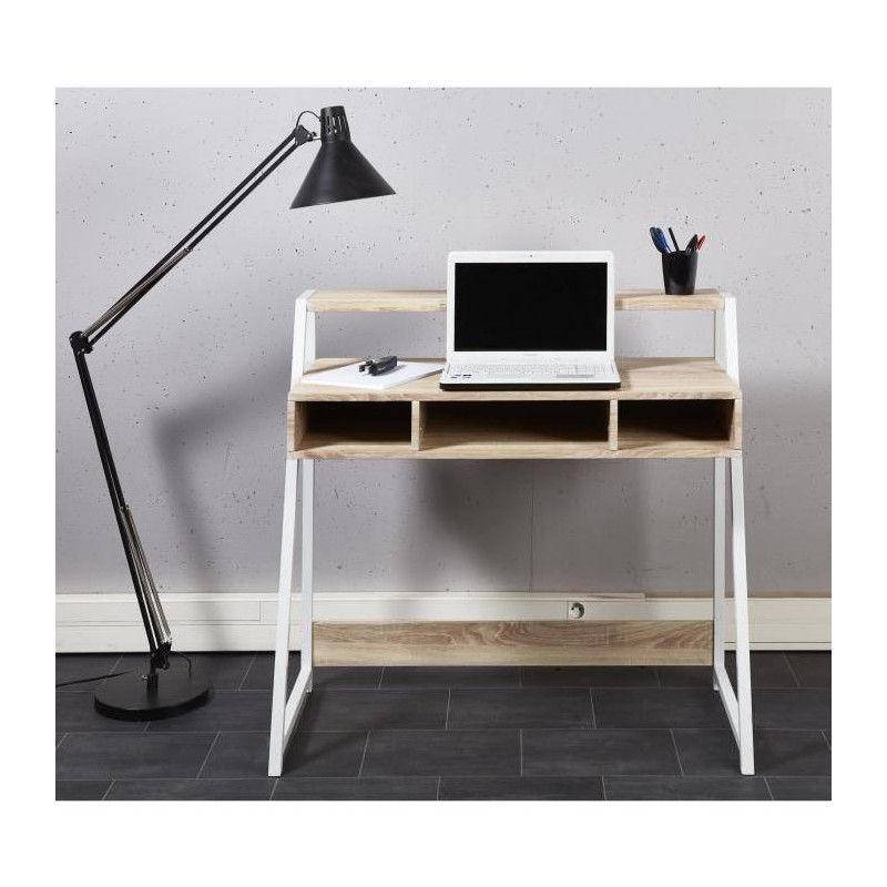 olga bureau scandinave m lamin d cor chene clair. Black Bedroom Furniture Sets. Home Design Ideas
