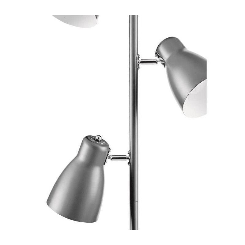 studio lampadaire 3 tetes incandescent 42 x h 166. Black Bedroom Furniture Sets. Home Design Ideas
