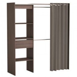 CHICAGO Kit dressing extensible contemporain décor chene - L 114 - 168 cm