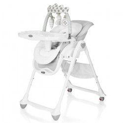 BREVI Chaise Haute B-FUN Multifonctions Gris Perle