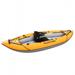 PLASTIMO Kayak Gonflable Simple - 2,70 m - 1 Place - Orange