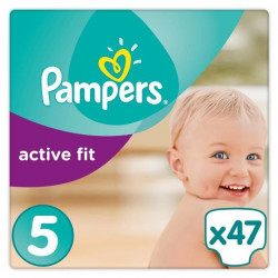 PAMPERS Active Fit Taille 5 - 11 a 25 kg - 47 couches