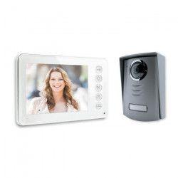 Visiophone 4 fils écran couleur 4,3` pouces ultra plat blanc