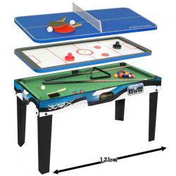 USG Table multi-jeux 3 en 1 (Billard américain + Air hockey + Ping-pong)