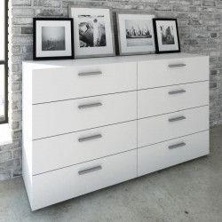 FINLANDEK Commode de chambre TYHJA style contemporain blanc mat - L 140 cm