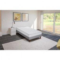 Ensemble matelas mousse polyuréthane + sommier tapissier 90 x 200 - Confort ferme - Epaisseur 16 cm - FINLANDEK