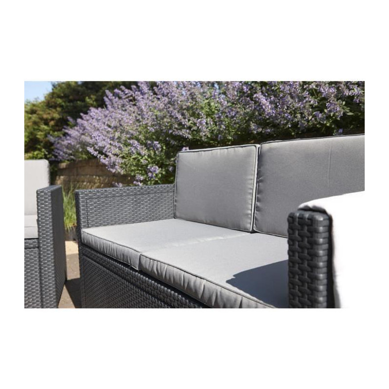 allibert salon de jardin monaco 4 places imitation. Black Bedroom Furniture Sets. Home Design Ideas