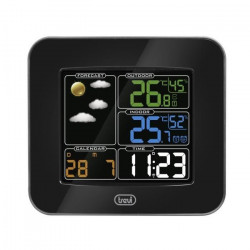 TREVI ME 3165 RC Mini station météo - Multifonctions - Noir