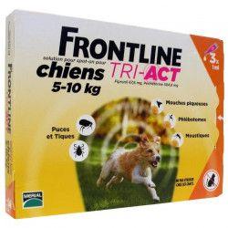 FRONTLINE 3 pipettes Tri-Act - Pour chien de 5 a 10 kg