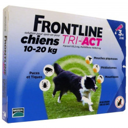 FRONTLINE 3 pipettes Tri-Act - Pour chien de 10 a 20 kg