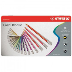 48 pastels aquarellables CarbOthello+taille crayon