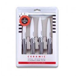 LE COUTEAU DU CHEF Coffret 4 couteaux a steack 10cm manche soft touch - Décors Bretagne