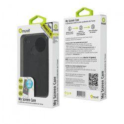 MUVIT Housse Minigel Noire Screen Care Pour Apple Iphone 4-4s